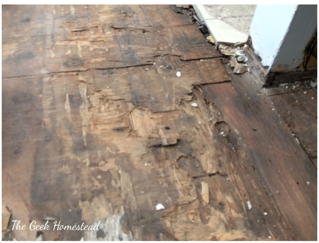 How To Repair A Rotten Subfloor The Geek Homestead